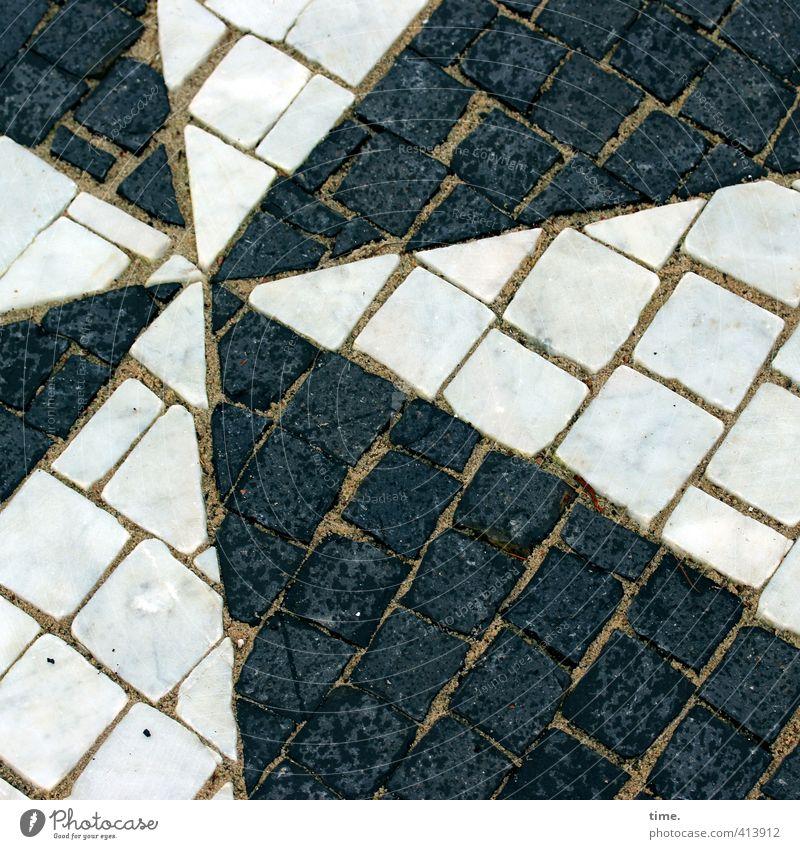 Stern | black & white unite weiß schwarz Wege & Pfade Stein Zeit Kunst Erde Design Ordnung Perspektive ästhetisch Spitze Stern (Symbol) Kreativität planen Zusammenhalt