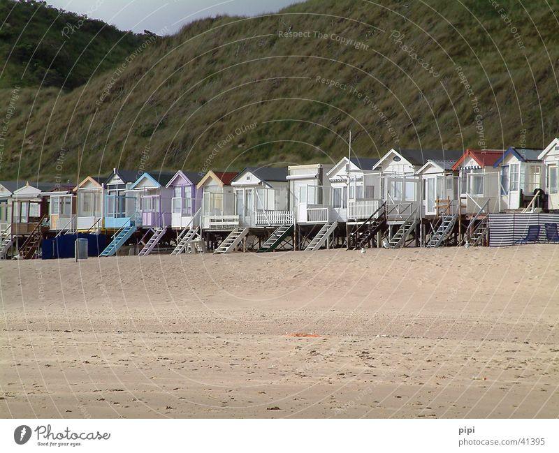 mit dem tag am meer_II Niederlande Strand Haus Europa Nordsee Sand Architektur