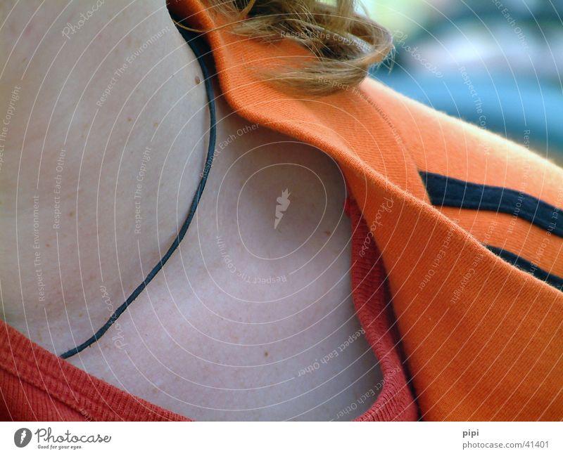 der hals Frau orange Hals Nordsee Halsband