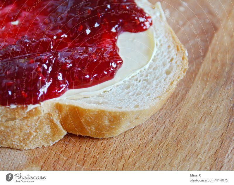 einfach lecker Lebensmittel Teigwaren Backwaren Brot Brötchen Marmelade Ernährung Essen Frühstück Büffet Brunch süß Appetit & Hunger Erdbeermarmelade Toastbrot