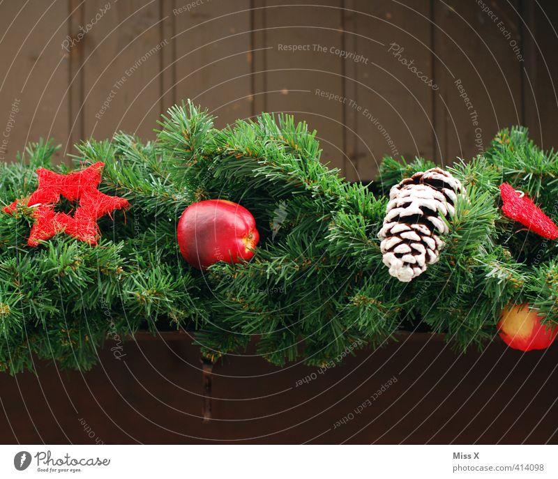 Weihnachtsdeko grün Weihnachten & Advent rot Winter Feste & Feiern Dekoration & Verzierung Stern (Symbol) Christbaumkugel Weihnachtsdekoration Weihnachtsmarkt