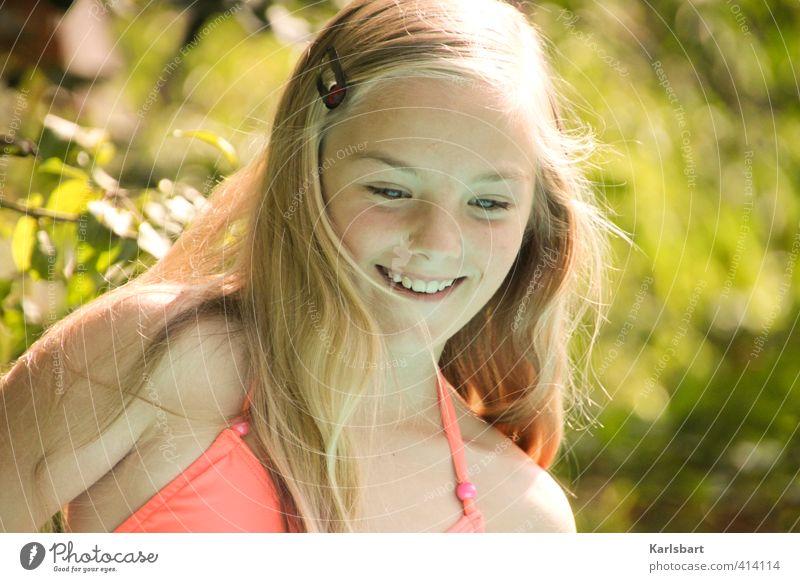 Nacho Mensch Kind Natur Jugendliche Sommer Sonne Mädchen Freude feminin Bewegung Sport Spielen Schwimmen & Baden Glück Gesundheit Kopf