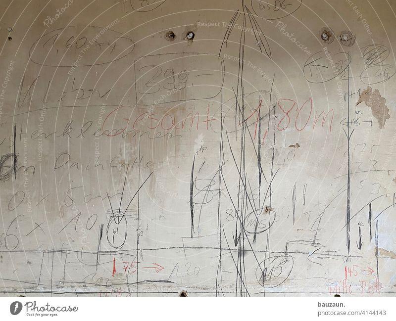 smart home. Wand Skizze Zeichnung Farbe Hintergrund Baustelle Meter Badezimmer Kreativität Design Konzept zeichnen