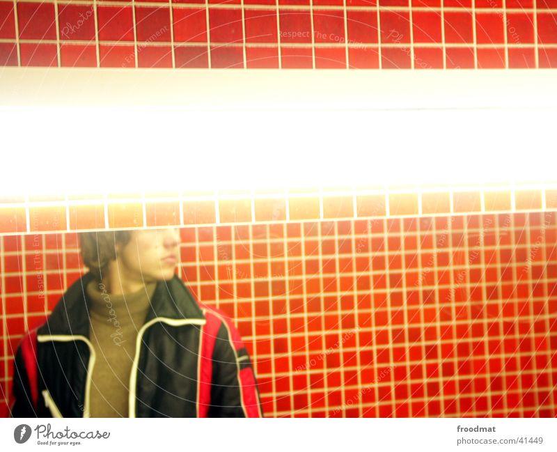 Dennoch kein Licht aufgegangen Mann Lampe Bad Spiegel Toilette Fliesen u. Kacheln Typ Anschnitt Mosaik