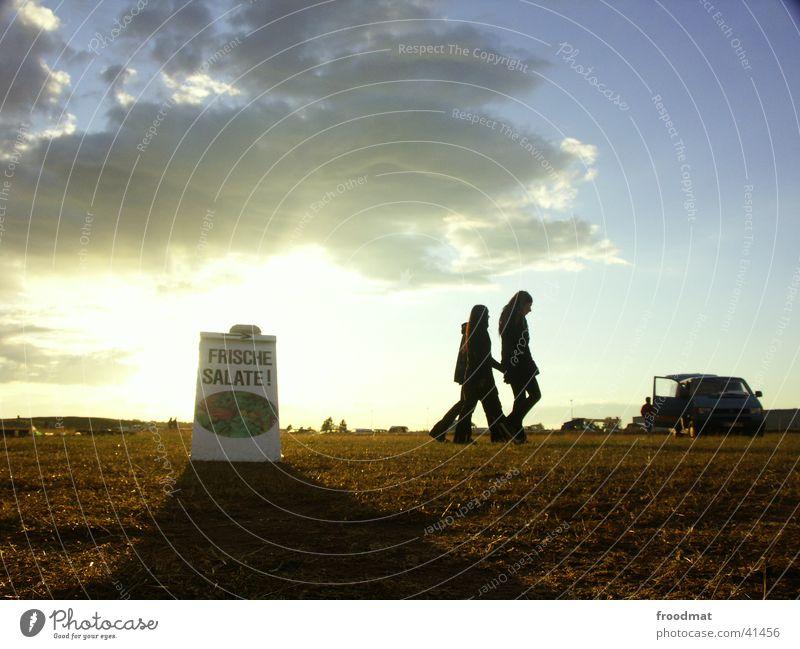 Frischer Salat Himmel Wolken Gesundheit Schilder & Markierungen Werbung Musikfestival