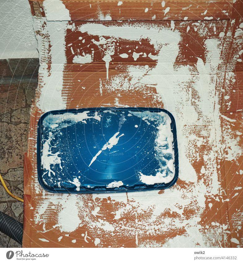 Farbe bekennen Strukturen & Formen Muster abstrakt Detailaufnahme Innenaufnahme Farbfoto bizarr verrückt Modern Art Gemälde Renovieren Menschenleer Kunst