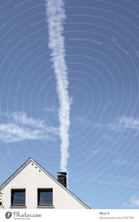 neuer Papst Häusliches Leben Wohnung Haus Energiewirtschaft Erneuerbare Energie Kohlekraftwerk Himmel Wolken Schönes Wetter Einfamilienhaus Fenster Schornstein