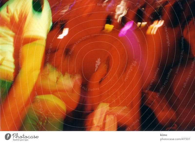 Disco-Lomo Party Mensch Menschengruppe Lomografie Lichterscheinung Wackeleffekt Partystimmung Partygast