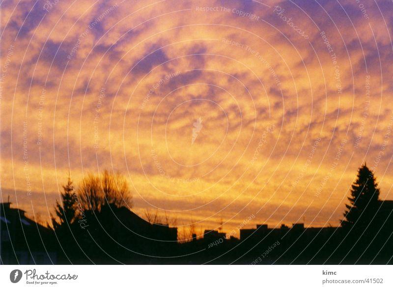 Sonnenaufgang in Offenbach Himmel Haus Wolken