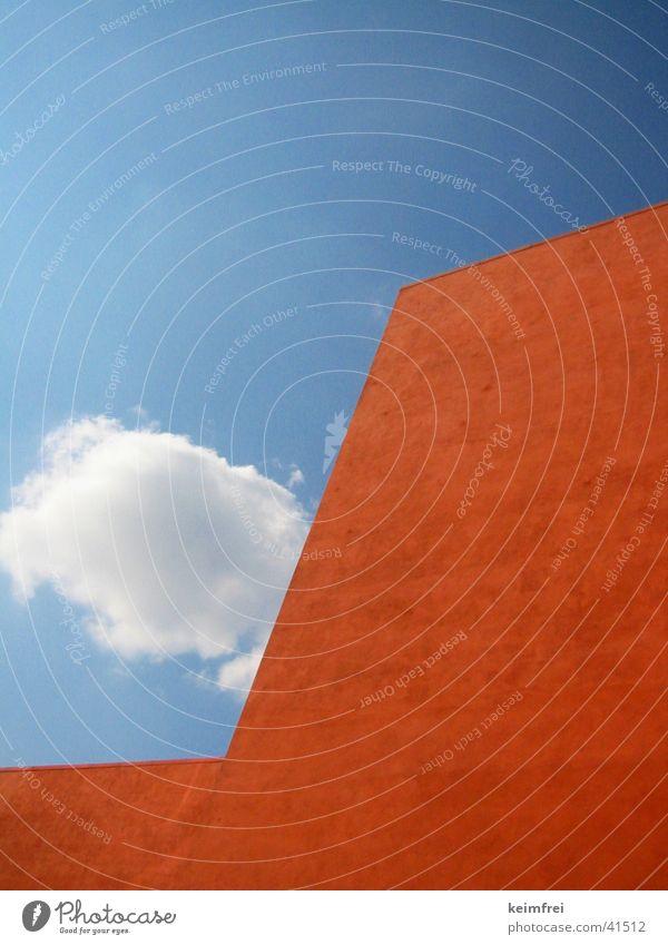 orangenhaus Himmel Haus Wand Architektur