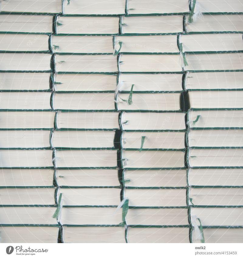 Bestandsaufnahme Gesangbuch viele Stapel Innenaufnahme Totale Menschenleer Farbfoto Gedeckte Farben Strukturen & Formen Muster Menge Papier Ordnung gleich