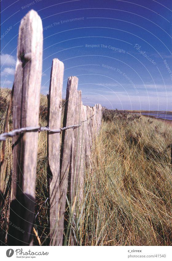 Ostengland Ferne tief Zaun England Ostküste Yorkshire