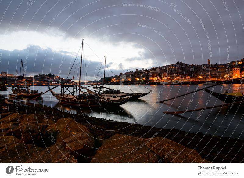 Porto Ferien & Urlaub & Reisen Tourismus Ausflug Ferne Sightseeing Städtereise Sommer Sommerurlaub Wasser Himmel Wolken Nachthimmel Sonnenaufgang
