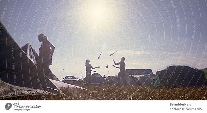 jonglieren Sonne Camping Artist Beruf jonglieren