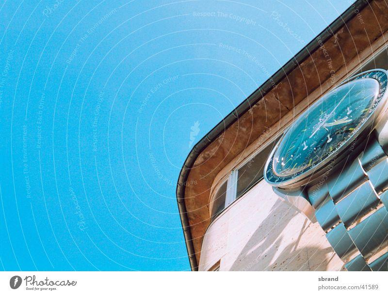 zeit Himmel Haus Graffiti Architektur Zeit Uhr