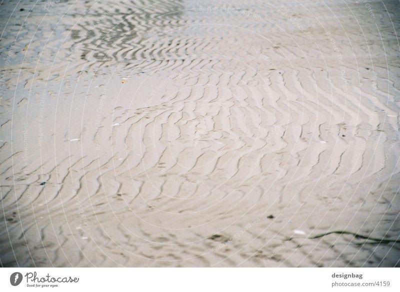 Spuren Strand Timmendorfer Strand Meer Strukturen & Formen