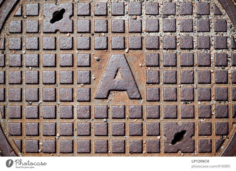gatubrunnAr. Zeichen Schriftzeichen Schilder & Markierungen Design Umwelt Umweltverschmutzung Umweltschutz Wasser Gully Quadrat rund Abfluss Kanalisation Straße