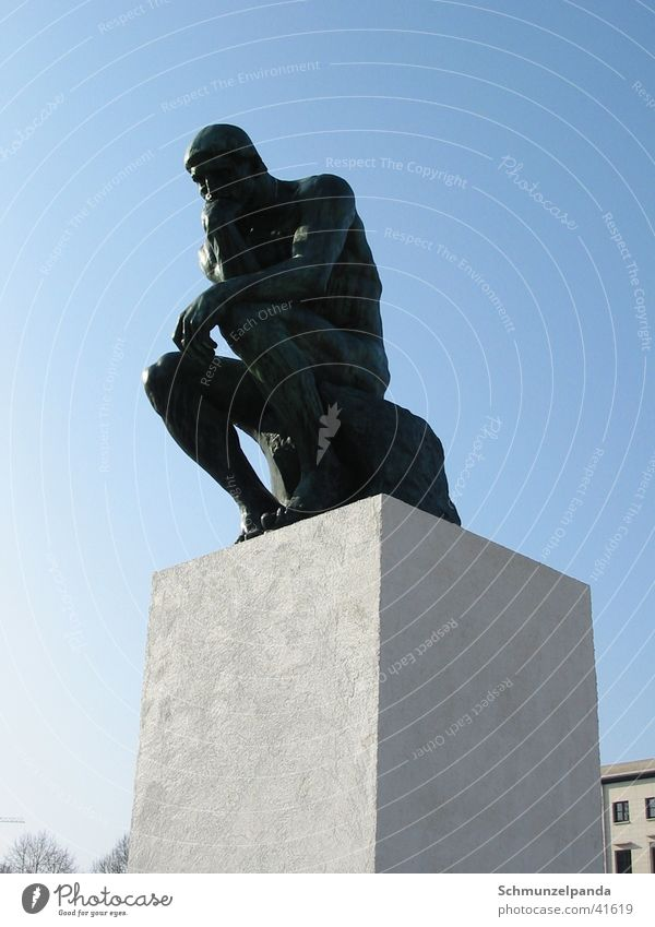 Der Denker2 Berlin Kunst Freizeit & Hobby Skulptur Philosoph Sockel Musée Rodin
