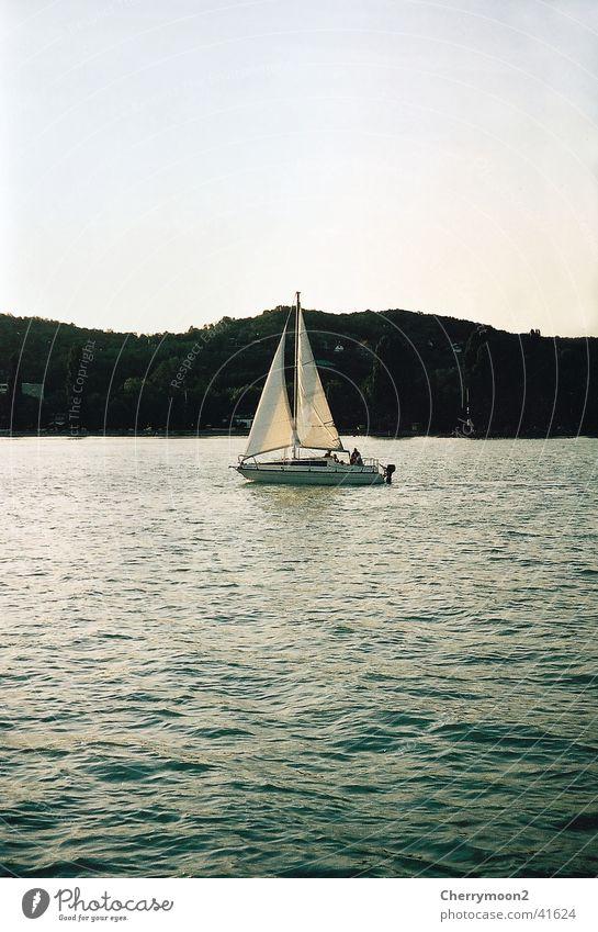 Segelboot in Kroatien Natur Wasser Ferien & Urlaub & Reisen ruhig Erholung Schifffahrt Abenddämmerung