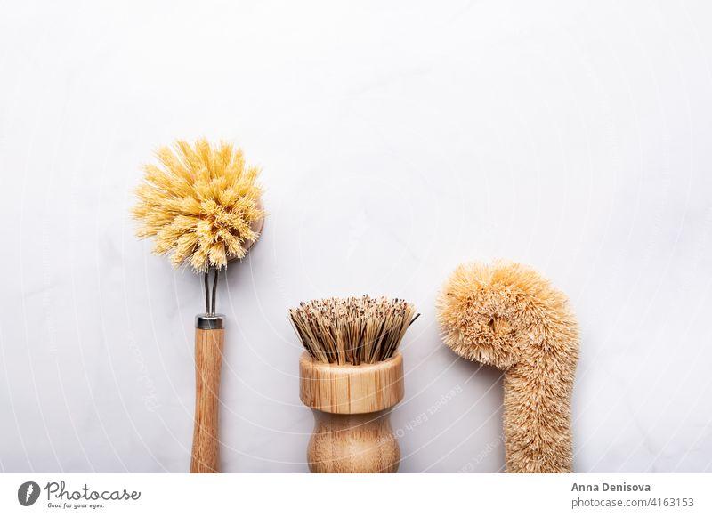Bambus-Küchenschaberbürste 3er-Set Bambus-Utensilien Bürste Küchenbürste hölzern Holzbürste Küchengeräte Öko-Geschirr Sauberkeit Hausreinigung