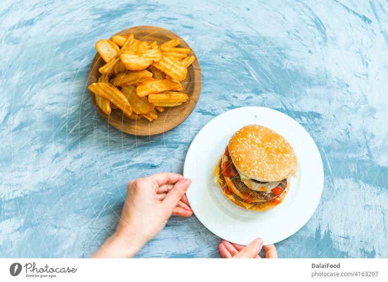 hamburger auf dem grill lieferung FOOD Amerikaner Hintergrund Rindfleisch Kasten Brot Brötchen Burger Karton Cheeseburger Container Versand Abendessen schnell