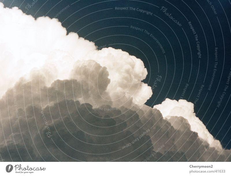 Haufenwolken Wolken Lichtspiel Kumulus Gewitter Natur Himmel Sonne Regen