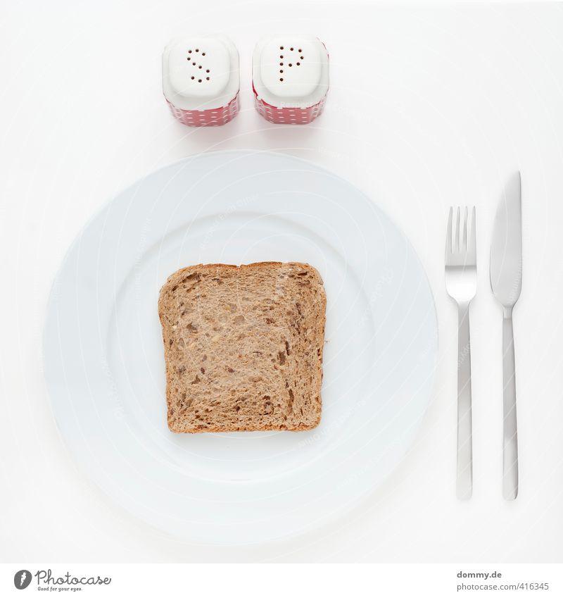 s | p Lebensmittel Brot Ernährung Essen Frühstück Diät Geschirr Teller Besteck Messer Gabel Stahl Duft braun Gesundheit Natur Wellness Toastbrot Salz Pfeffer