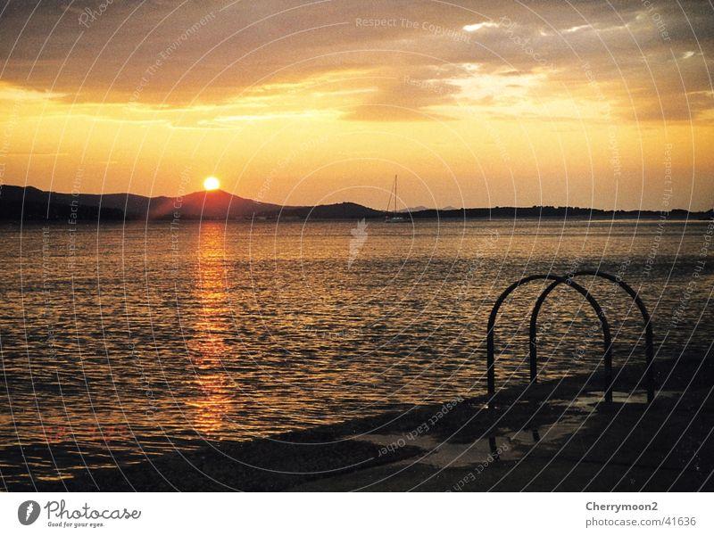 Romantik Natur Wasser Himmel Sonne Ferien & Urlaub & Reisen Abenddämmerung Kroatien