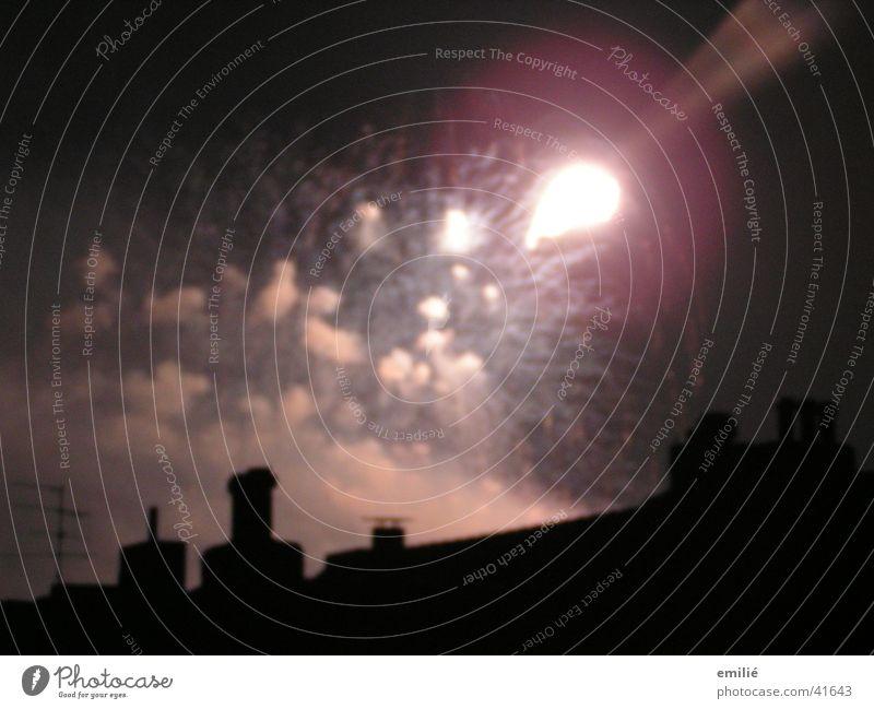 SIE Kommen Nachthimmel Rauch obskur Schornstein Schwanz
