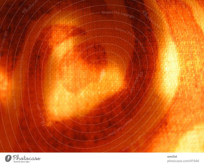 letSUNSHINEin rot Sonne Lichteinfall Stoff Muster gelb Gute Laune Makroaufnahme Nahaufnahme orange Farbe Strukturen & Formen Täuschung