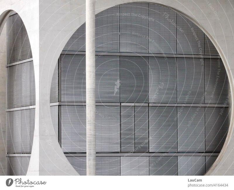 Moderne Architektur im Berliner Regierungsviertel Architekturfotografie Hauptstadt Beton modern Fassade Gebäude Haus Menschenleer Fenster Bürogebäude