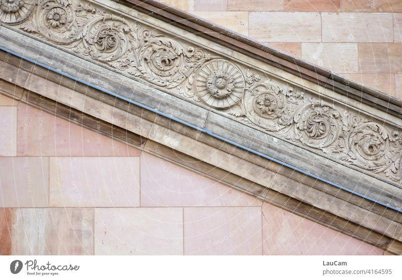 Treppenverzierung an der Alten Nationalgalerie in Berlin Alte Nationalgalerie Museumsinsel UNESCO-Weltkulturerbe unesco weltkulturerbe UNESCO-Welterbe