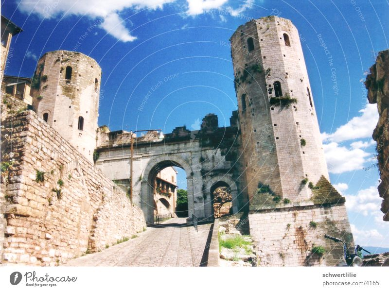 Spello Turm Italien Tor