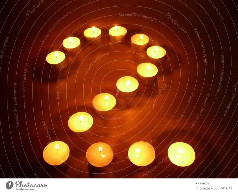zwei Licht Kerze Ziffern & Zahlen hell Freizeit & Hobby Wärme Lichterscheinung