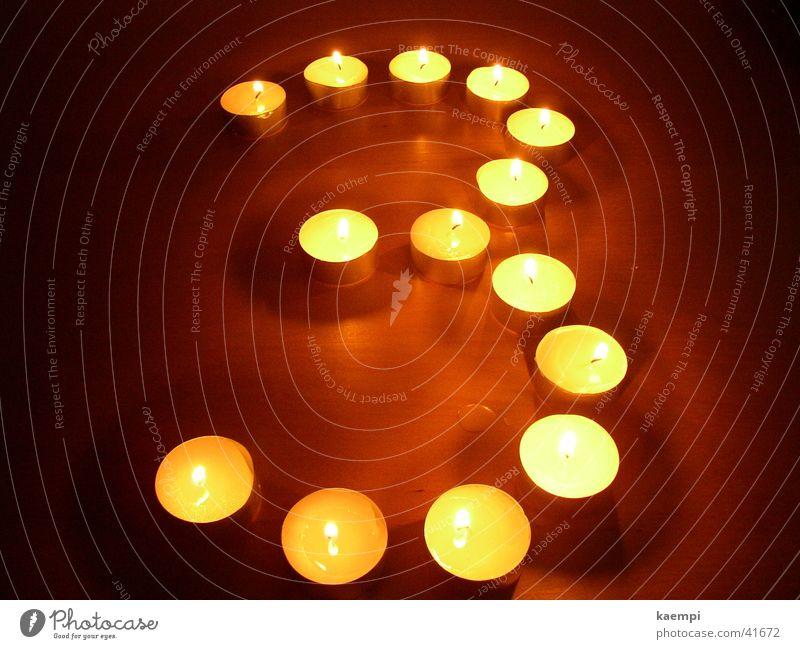drei Licht Kerze Ziffern & Zahlen hell Freizeit & Hobby Wärme Lichterscheinung