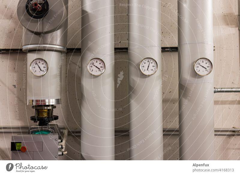 Installation IX | 46 / 34 / 69 / 36 Traummaße Rohre installation Industrie Menschenleer Industrieanlage Haus Keller Heizung Heizungstechnik Wärmepumpe