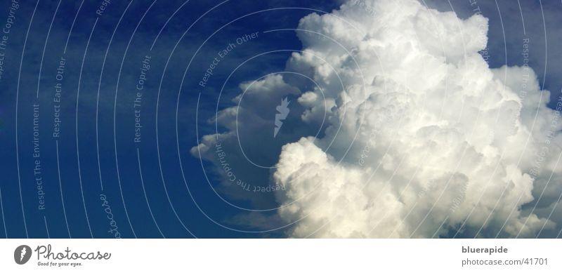 Panorama Wolke Himmel weiß blau Wolken Nebel groß leicht Panorama (Bildformat) Kumulus luftig Watte