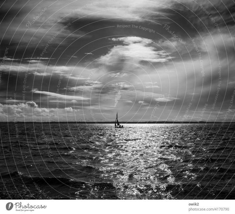 Dahindümpeln Einsamkeit Zufriedenheit Freizeit & Hobby Segelboot glänzend leuchten elegant maritim hell Erholung Hoffnung Freude Idylle Leichtigkeit Ostsee
