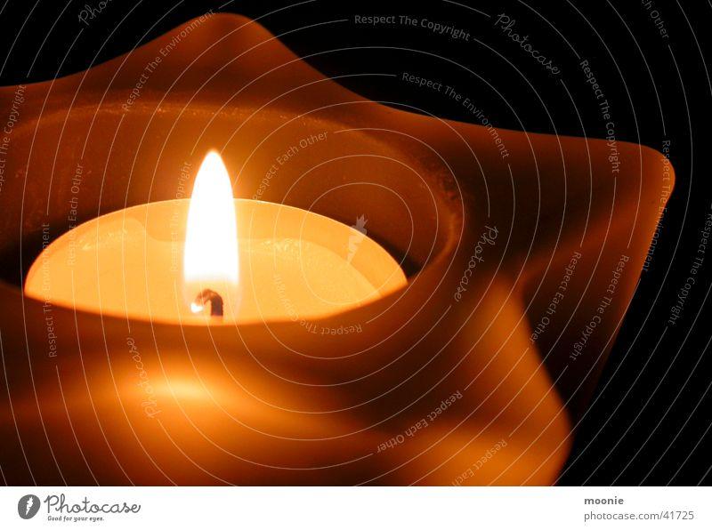 Kerze ruhig Wärme Stern (Symbol) Dinge Geborgenheit