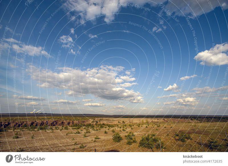 Cottbuser Ostsee tagebau Umwelt Braunkohle Außenaufnahme Braunkohlentagebau Landschaft Menschenleer Industrie Natur Flutung Energiewirtschaft Tag Himmel Wolken