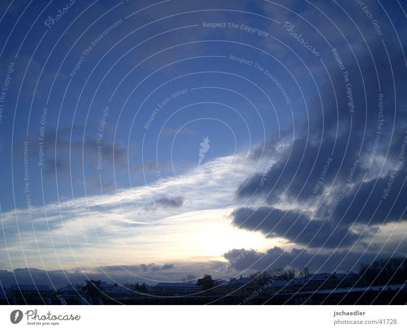 Morgenstimmung Himmel blau Stadt Wolken Ludwigsburg