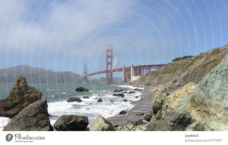 Below the Golden Gate Himmel Natur Sommer Meer Landschaft Wolken Küste Architektur Sand Felsen Wetter Wellen Kraft Wind Klima wandern