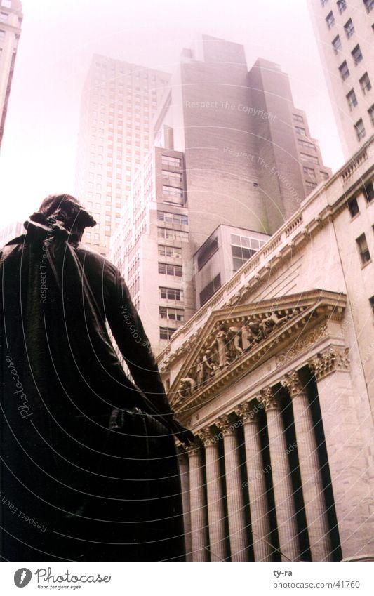 Wall Street New York Börse New York City Reichtum Hochhaus Aktien Amerika Architektur USA Macht