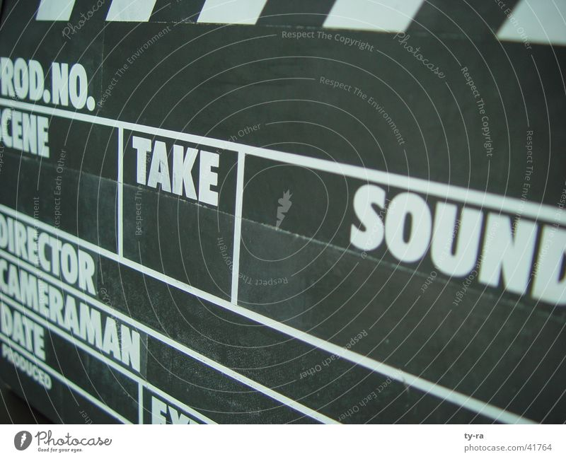 and...action! Filmproduktion Filmindustrie Fernsehen Dinge Regie Medien Klappe Dreharbeit Filmklappe