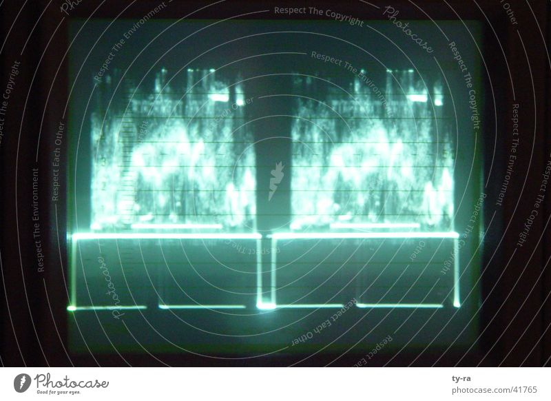 Oszilloskop grün Technik & Technologie Fernsehen schwingen Elektrisches Gerät