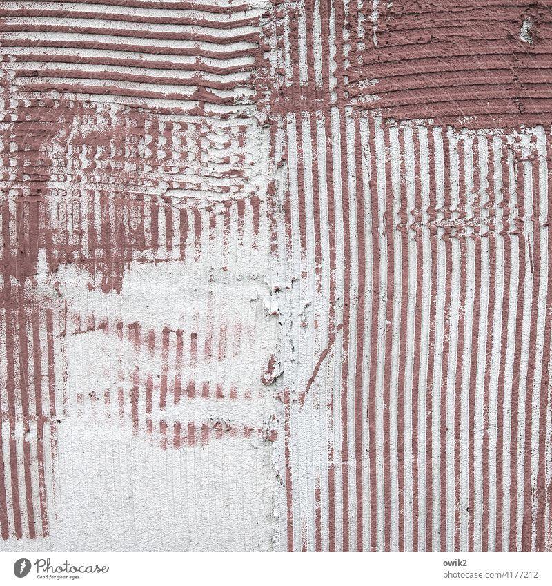 Abgeschabt Mauer Wand Schliere einfach Spuren rau hart Außenaufnahme Farbfoto Gedeckte Farben Strukturen & Formen Menschenleer Totale schraffiert Schraffur