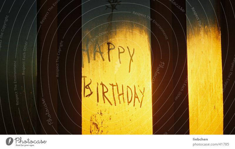 Happy Birthday Fenster Geburtstag Seil Schriftzeichen Freizeit & Hobby