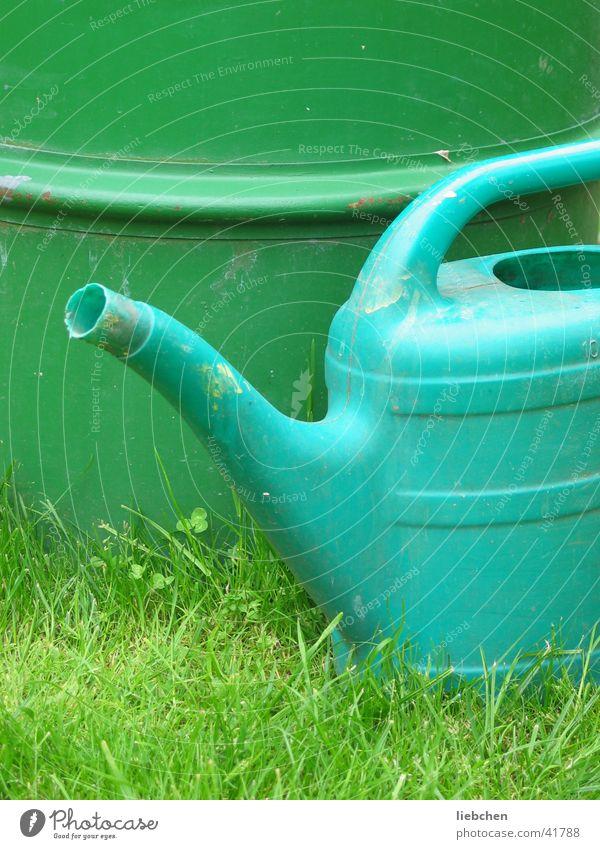 alles im grünen Bereich Wasser Garten Rasen Dinge Fass Gießkanne