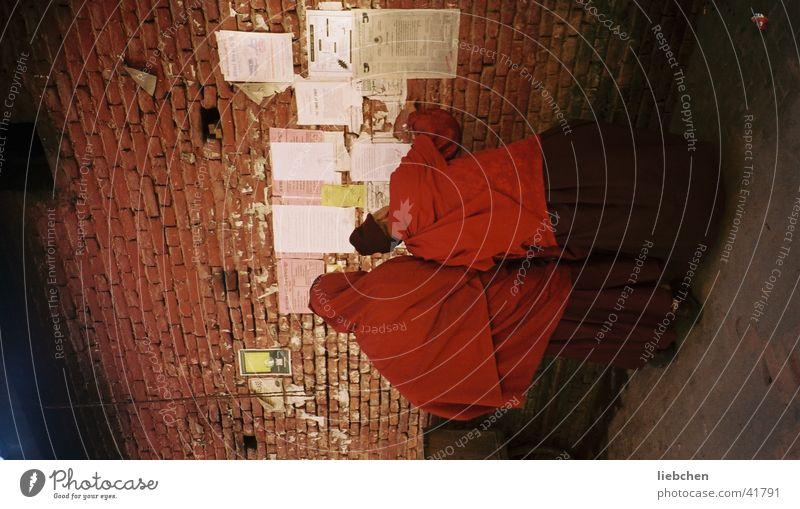 Mönche Religion & Glaube Plakat Nepal Wand Mauer Mensch