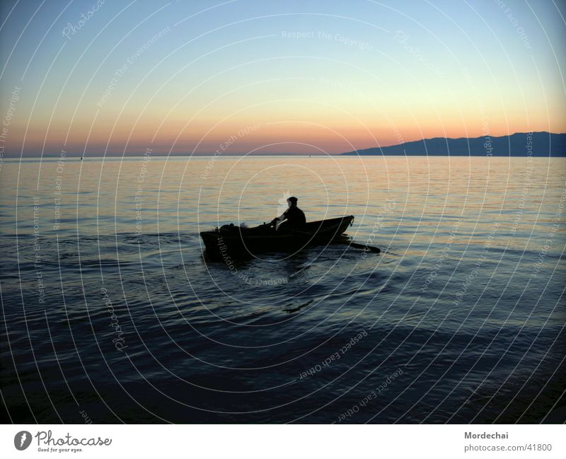 Baikal See Wasser Wasserfahrzeug Romantik Russland Ruderboot Ruderer